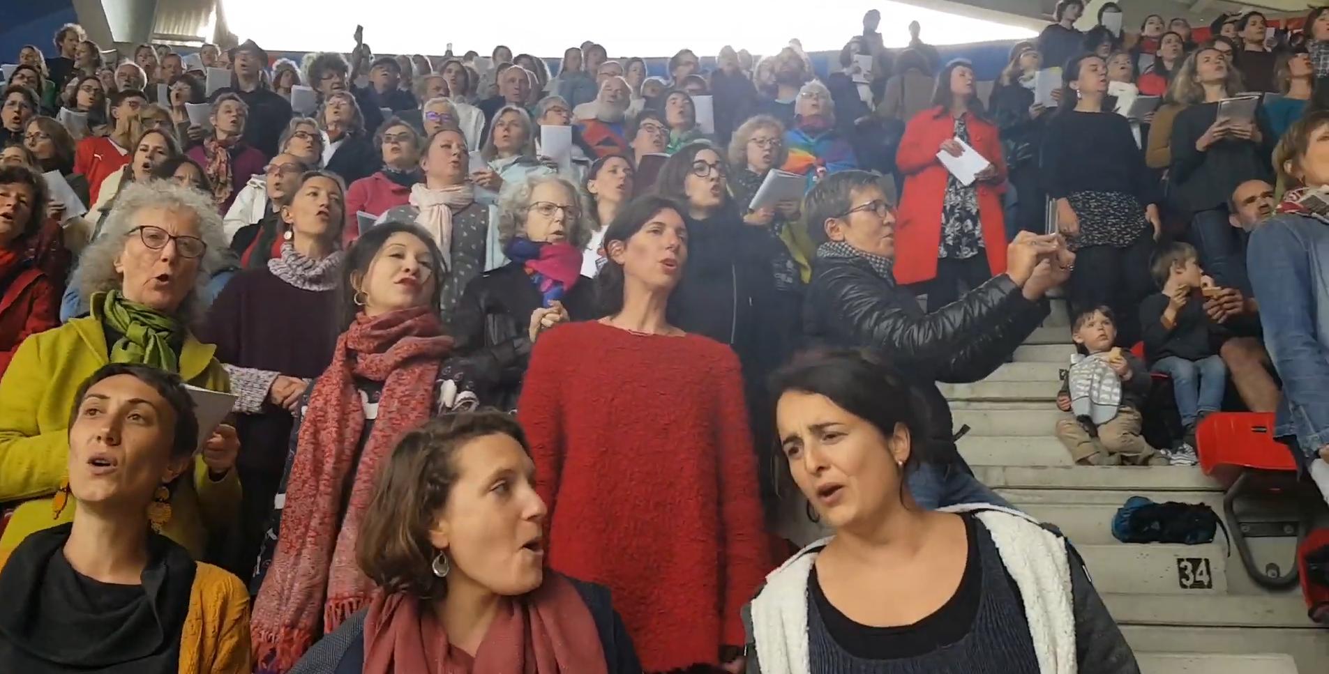 L'hymne des femmes…. au stade